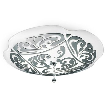 Shown in White with Platinum finish, Large size