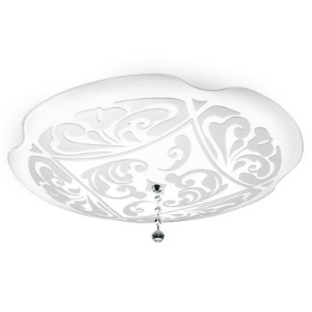 Shown in White with White finish, Large size