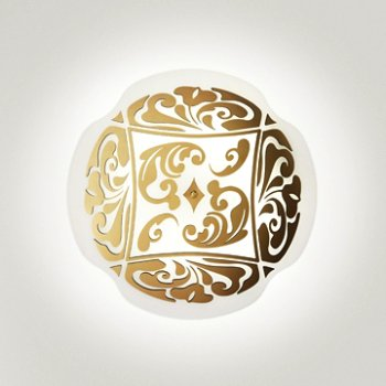 Shown in White with Gold finish, Small size