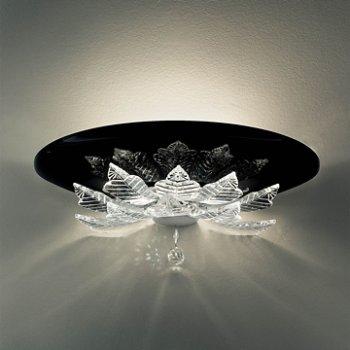 Shown in Black glass