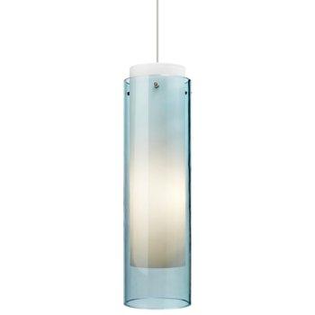 Shown in Aquamarine glass, Satin Nickel finish