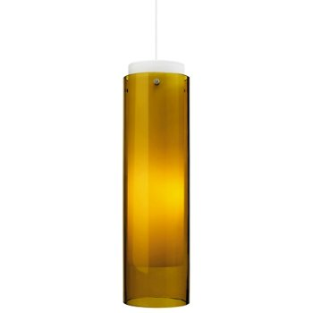 Shown in Amber glass, White finish