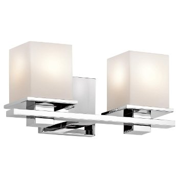 Shown in Chrome finish, 2 Light