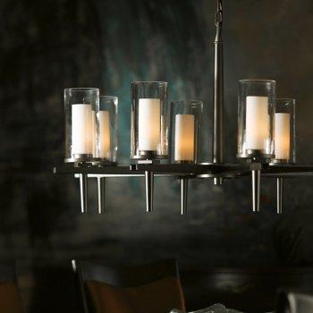 Opal and Clear glass, Dark Smoke finish