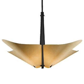 Shown in Black finish with Spun Amber shade color