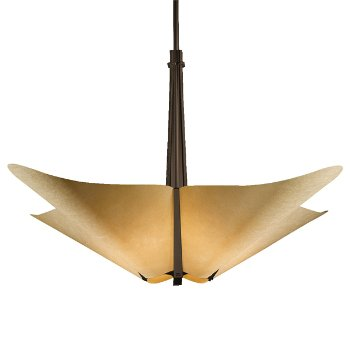 Shown in Bronze finish with Spun Amber shade color