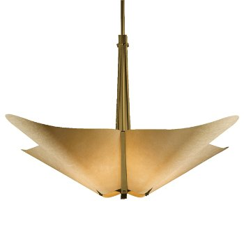 Shown in Gold finish with Spun Amber shade color