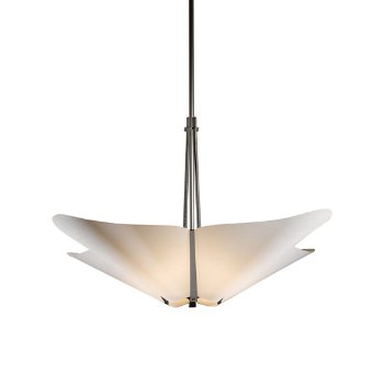 Shown in Burnished Steel finish with Spun Frost shade color