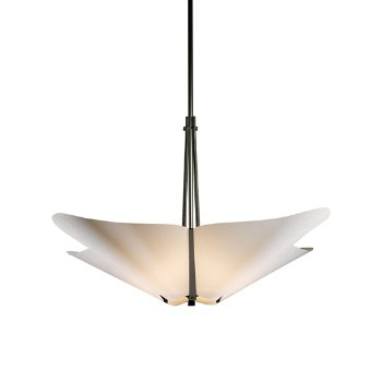 Shown in Natural Iron finish with Spun Frost shade color