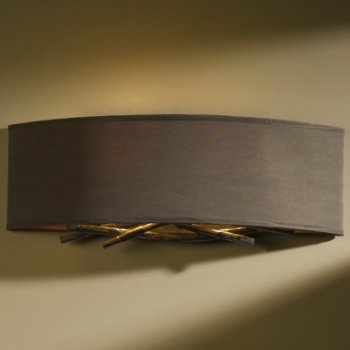 Eclipse Micro-Suede shade, Burnished Steel finish