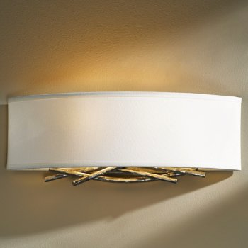 Shown in Vintage Platinum finish, Natural Anna shade