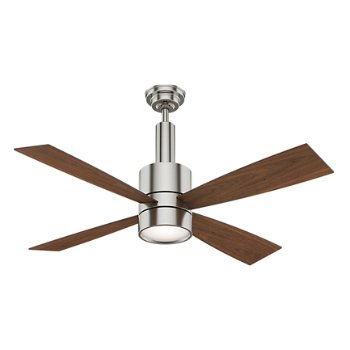 Shown in Brushed Nickel finish with Walnut blades