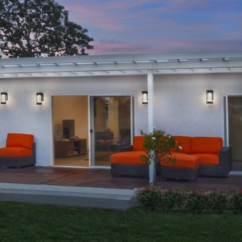 New Age LED Outdoor Wall Sconce, in use