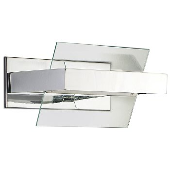 Shown in Transparent / Chrome finish, Large size