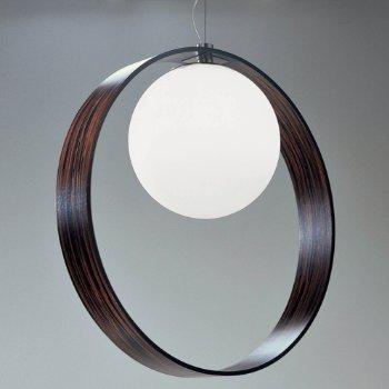 Shown in Ebony and Aluminum finish, White shade, in use