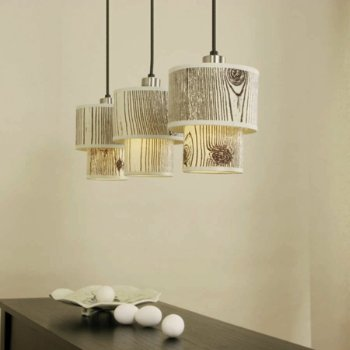 Shown in Faux Bois Light shade