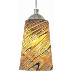 Carnevale Taupe Feather Pendant