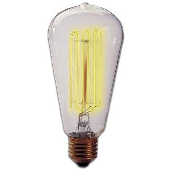 40W 120V ST18 E26 Squirrel Cage Edison Bulb