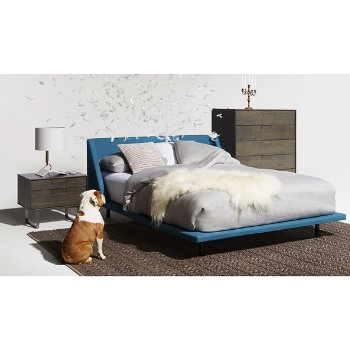 Nook Bed with Series 11 Nightstand, Series 11 5 Drawer Dresser and Bender Table Lamp