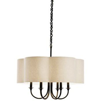 Shown in Antique Silver with Olive Gray Sheer shade