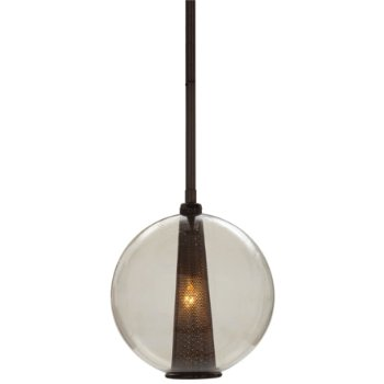 Shown in Brown Nickel finish with Smoke shade, Medium size