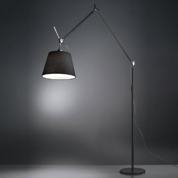 Tolomeo Mega Black Floor Lamp