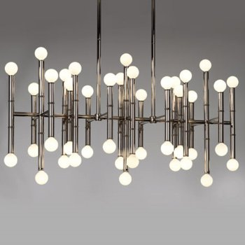 Meurice Rectangular Chandelier (Nickel) - OPEN BOX RETURN