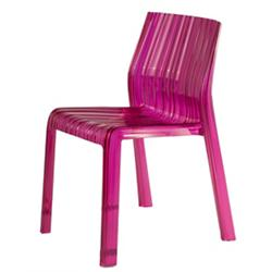 Frilly Chair (Transparent Fuchsia) - OPEN BOX RETURN