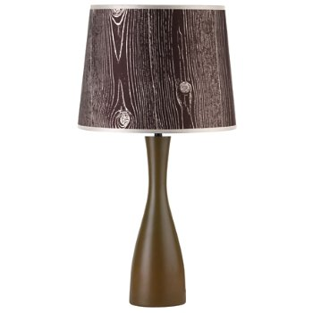 Shown in Faux Bois Dark shade, Olive base
