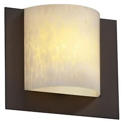Fusion Framed Square 3-Sided Wall Sconce