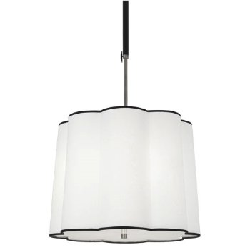 Axis Drum Pendant (Blackened Nickel/Ascot White) - OPEN BOX RETURN