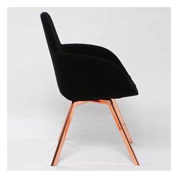 Shown in Tonus Black fabric, Copper legs