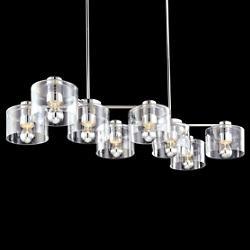 Transparence 8-Light Rectangle Chandelier