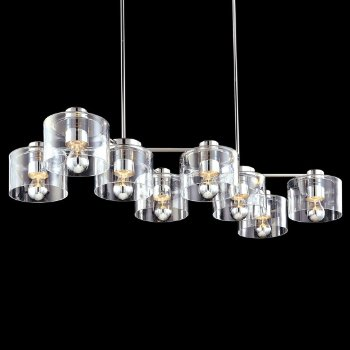 Transparence 8-Light Rectangle Chandelier