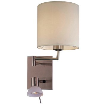 George's Reading Room P1050 Wall Lamp (Nickel) - OPEN BOX
