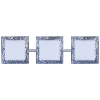 Shown in Opal with Silver Foil Shade, Chrome finish, 3 Lights