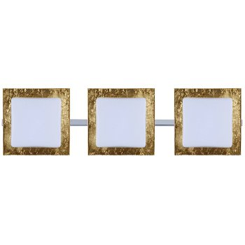 Shown in Opal with Gold Foil Shade, Chrome finish, 3 Lights