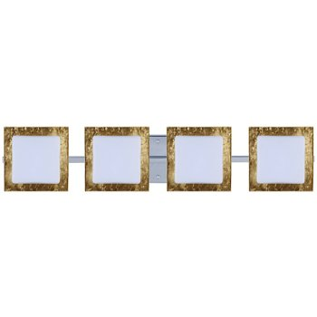 Shown in Opal with Gold Foil Shade, Chrome finish, 4 Lights
