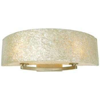 Shown in Gold Dust finish, Crushed Capiz Shell shade, Small size