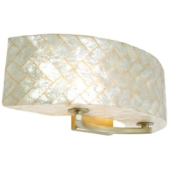 Shown in Gold Dust finish, Herringbone Capiz Shell shade, Small size