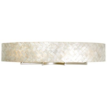 Shown in Gold Dust finish, Herringbone Capiz Shell shade, Large size
