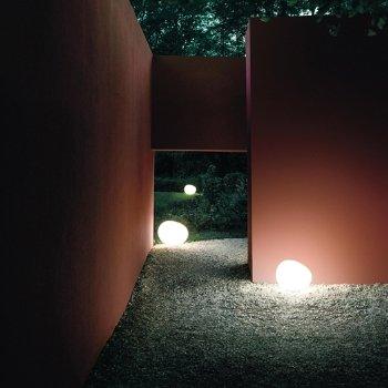 Outdoor Gregg Floor Lamp, in use