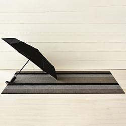 Bold Stripe Shag Door Mat
