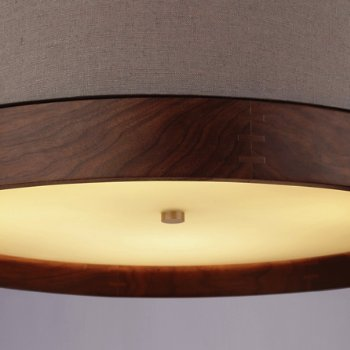 Shown in Heather Gray with Walnut, Antique Bronze finish, Detail view