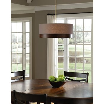 Shown in Heather Gray with Walnut, Antique Bronze finish, in use