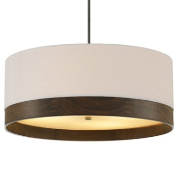 Shown in White with Walnut with Antique Bronze finish