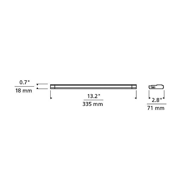 Unilume LED Slimline 13-Inch Undercabinet Light