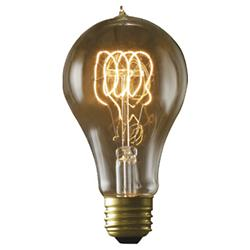 40W 120V A21 E26 Quad Loop Edison Bulb