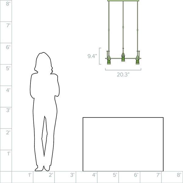 Erlenmeyer Multi-Light Pendant