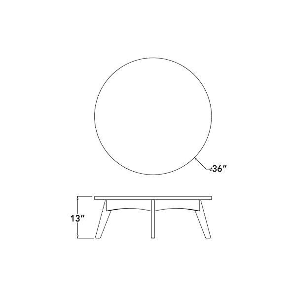 Satellite Round Cocktail Table